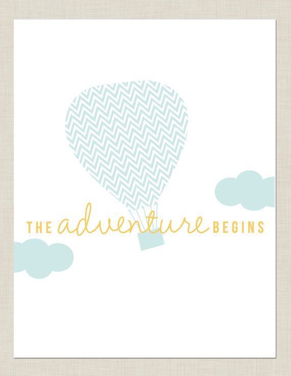 Hot Air Balloon Nursery Print on Etsy, $8.00