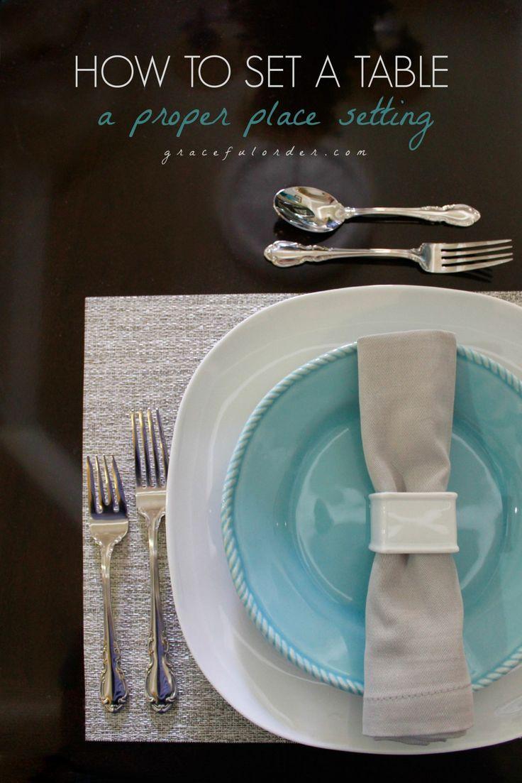 Best 25+ Proper table setting ideas on Pinterest