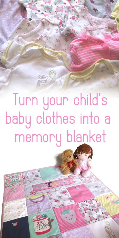 Take those baby clothes out of that storage box and make something beautiful to treasure forever