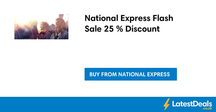 National Express Flash Sale 25 % Discount