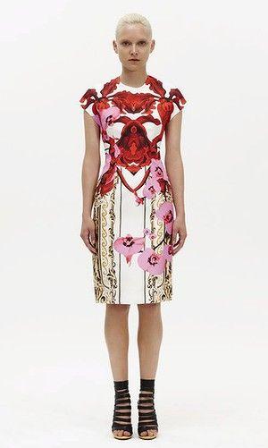 Extravagant ... Josh Goot's cap-sleeve dress sheds the minimalism of the past few seasons.Women Fashion, Orchids Frames, Josh Goot, Head Of Garlic, Fashion Styles, Cap Sleeves, Style Universe, Goot Ss12, Sleeve Dresses