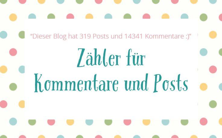 Copy Paste Love: Zähler für Kommentare & Posts