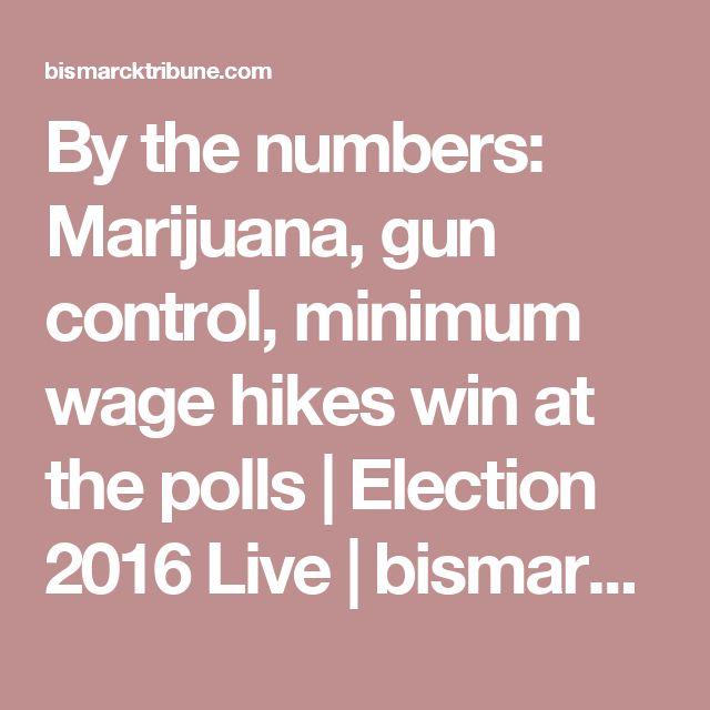 By the numbers: Marijuana, gun control, minimum wage hikes win at the polls | Election 2016 Live | bismarcktribune.com