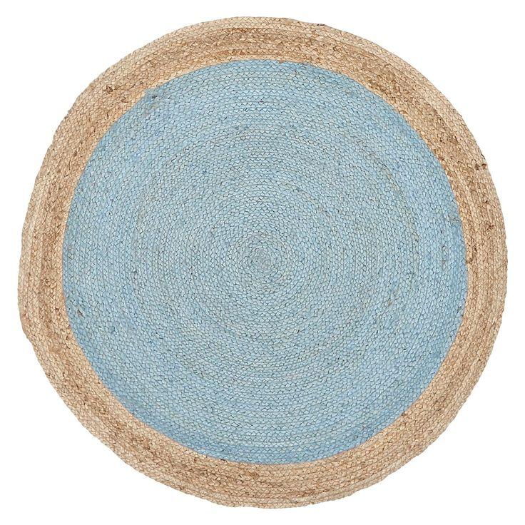 Tortuga Jute Round Rug, Blue by Rug Culture | Zanui