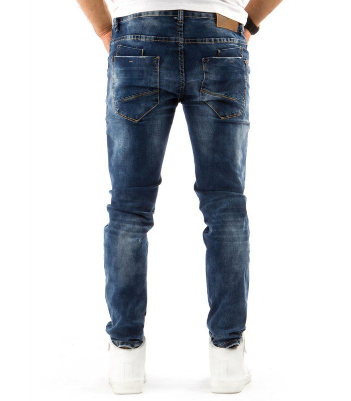 Modré pánske riflové nohavice
