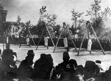Execution of Armenians in the Constantinople, June 1915