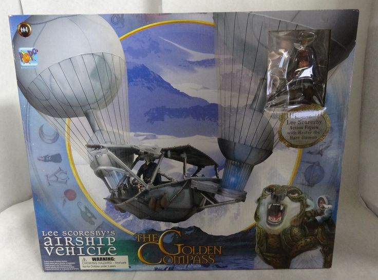 2007 The Golden Compass Lee Scoresbys Airship Vehicle w/ 2 Action Figures MISB
