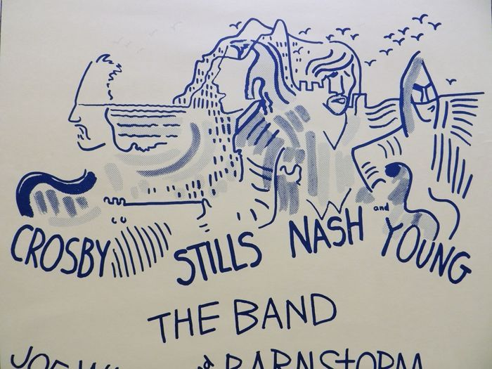 """Catawiki online auction house: Crosby Stills Nash & Young """""""" Dance"""" Concert Poster 1974"""