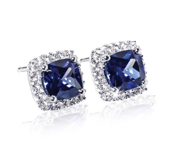 Silver, Cubic Zirconia and Gemstone Earrings R988  *Prices Valid Until 25 Dec 2013