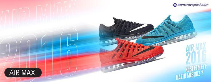 Nike Air Max 2016 yenilenen tek parça kafes tasarımına sahip dikişsiz üst yüzeyi ve güncellenen flywire teknolojisi eklentisiyle yeni versiyonuyla ön planda. Mercurial krampon havasını üst yüzeyinde nike logosuyla yansıtan koşucuların vazgeçilmez ikonudur. Max Air,Flywire,Cushlon taban,flex kanalcıklı taban tasarımı,waffle dış taban  teknoloji ve yapı birimleri ile koşucuların maksimum esneklik ve çok yönlü zemin hakimiyetini sağlar.