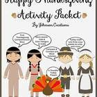 """This $7.50 packet is for kindergarten through fourth grade.  This packet includes: •A """"Thankful"""" activity- turkey body, 2 different sheets of feat..."""