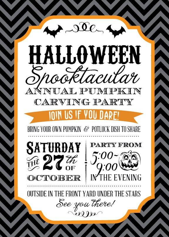 21 Best Adult Halloween Party Invitations! Images On Pinterest