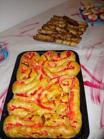 Para la cena de hallowen, hice una empanada de sabor delicioso y vista repugnante ^^ (así es halloween)         EMPANADA DE TRIPAS   La rece...