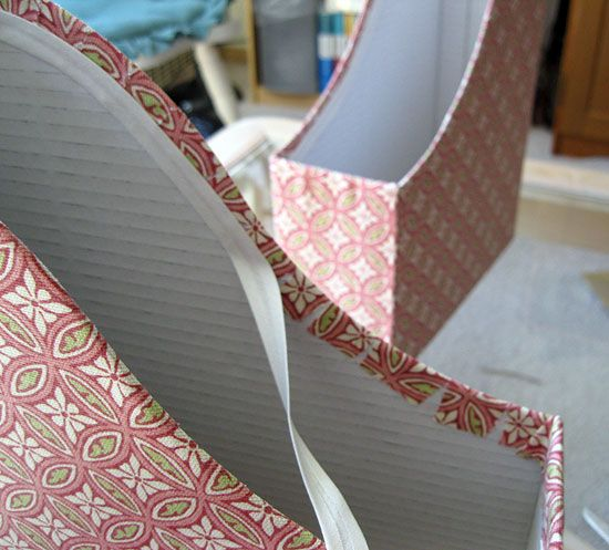 DIY Fabric-Covered Magazine Files.