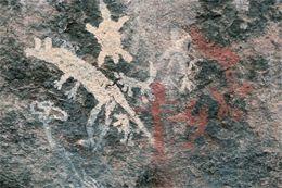 Rock art from the Ngunnawal people at Tidbinbilla