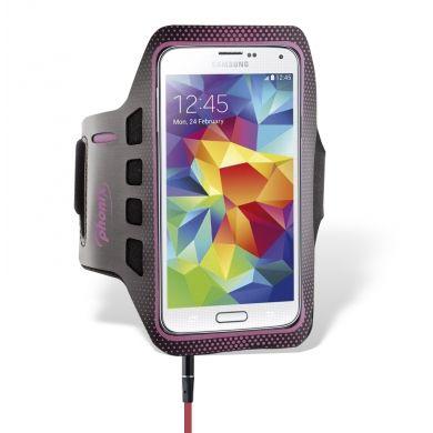 """FASCIA DA BRACCIO – LARGE – ROSA Codice prodotto: PARMBLP Descrizione: Fascia da braccio in neoprene regolabile Specifiche tecniche: - Realizzata in soffice neoprene - Design ergonomico per uso sportivo - Tasca portachiave - Controllo totale del display - Per smartphone con display max. 5.1"""" (esempio: Samsung Galaxy S5 - S4 - S3) - Dimensioni tasca portatelefono: 140 x 70 x 9 mm. - Circonferenza braccio da 90 mm. a 130 mm. Info a: info-tecniche@phonix.it"""