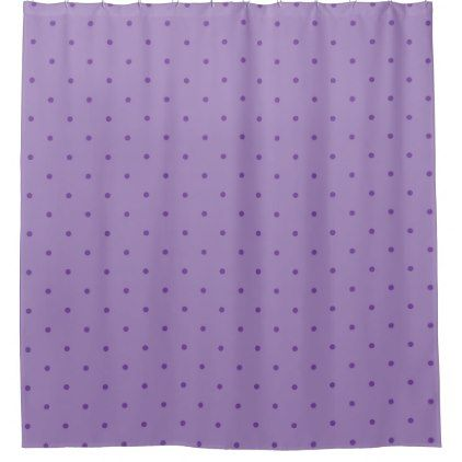 Purple Polka Dots on Lighter Purple Shower Curtain - shower curtains home decor custom idea personalize bathroom