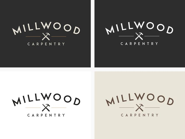 Millwoood Carpentry Logotype & Brand Development by Logo Rocket