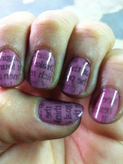 30 best newspaper nail art tutorial video gallery by nded images newspaper nail art prinsesfo Image collections