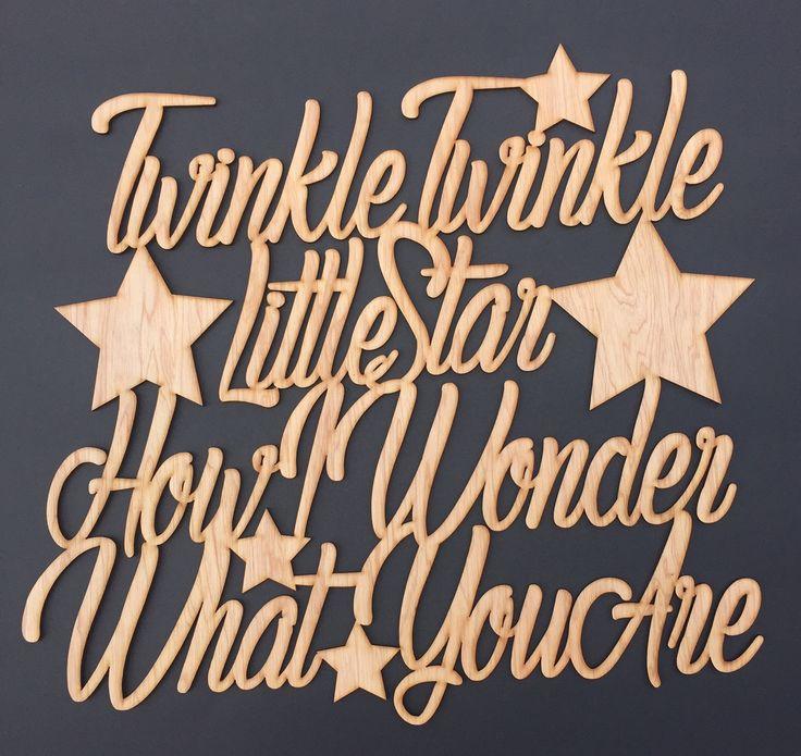 Twinkle Twinkle Little Star... beautiful wall sign laser cut out of cedar