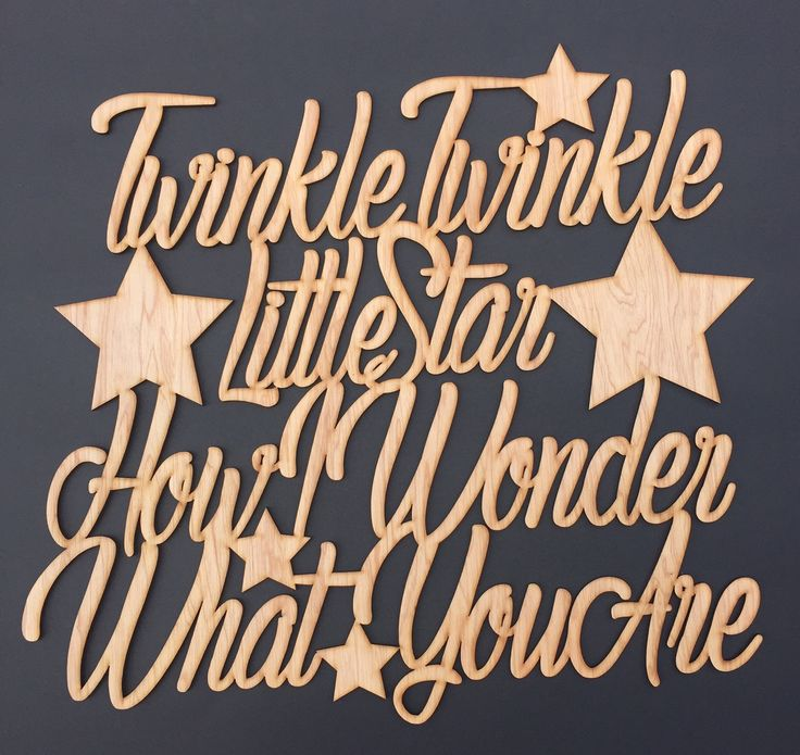 Twinkle Twinkle Little Star... beautiful wall sign laser cut out of cedar