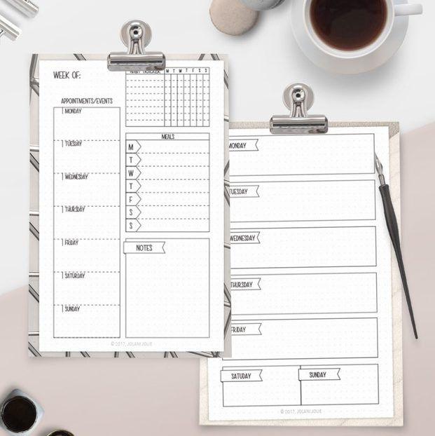 ダウンロードして貼るだけ 手帳に使える 海外の無料素材 11選