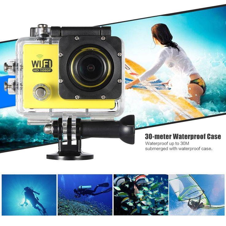Only US$23.99, black Full HD Wifi 12MP 1080P 30FPS 140 Degree Wide Lens Waterproof - Tomtop.com