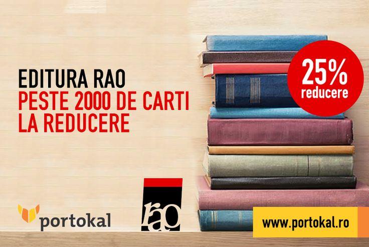 Întregește-ți colecția de cărți de la editura RAO! Pe portokal.ro găsești peste 2000 de cărți de la editura RAO, cu reducere de 25% din preț până pe 30 aprilie!  http://goo.gl/0b7CJS  #Portokal #RAO #Reducere
