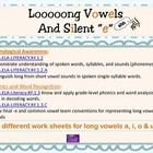 32 different work sheets for long vowels a, i, o & u. CCSS.ELA-LITERACY.RF.1.2Demonstrate understanding of spoken words, syllables, and sounds (phonemes). CCSS.ELA LITERACY.RF.1.2.A Distinguish long from short vowel sounds in spoken single-syllable words.CCSS.ELA-Literacy.RF.1.3 Know and apply grade-level phonics and word analysis skills in decoding words. CCSS.ELA-LITERACY.RF.1.3.C Know final -e and common vowel team conventions for representing long vowel sounds