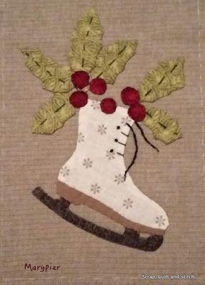 Scrap quilt and stitch