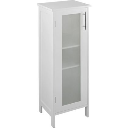 Hygena Frosted Insert Bathroom Floor Cabinet - White £49.99 for bathroom!