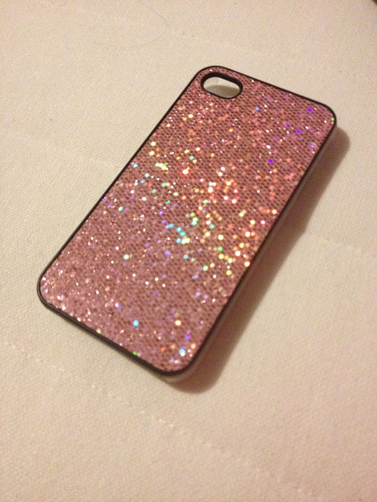 Pink sparkly phone case:)