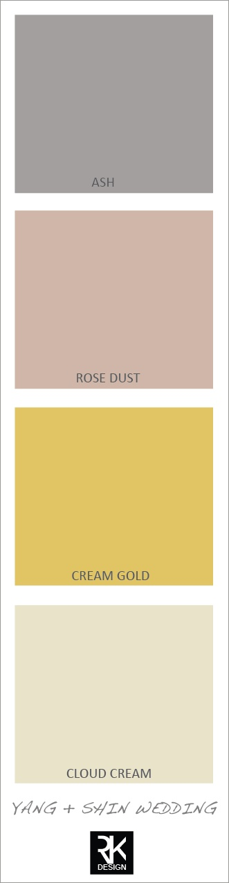 either the rose dust with a little less gray to it or the bottom one for bridesmaids
