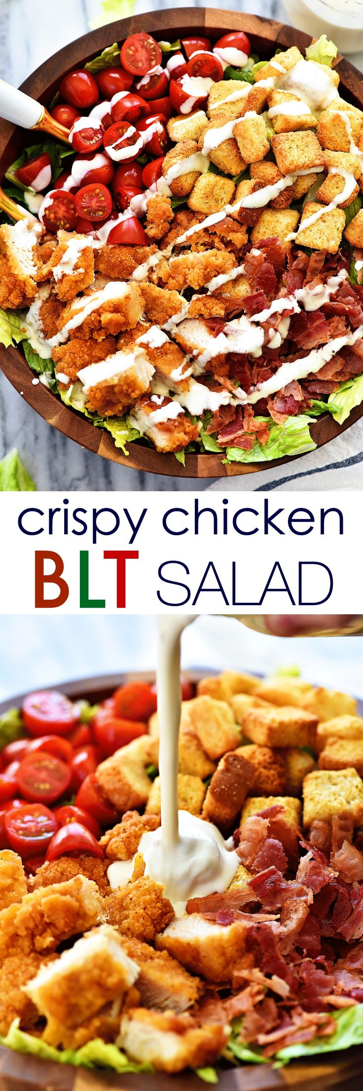 Where are all my salad lovers at??  I am a hard-core salad loving girl. They are definitely in my top 10 favorite things to eat. There are about 1.3 million ways you can make them and that's probably why I love them so. This CRISPY CHICKEN BLT SALAD is one I made for lunch...Read More »