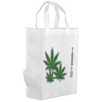 Weed Leaves Stash Reusable Grocery Bags 30% off www.leatherwooddesign.com