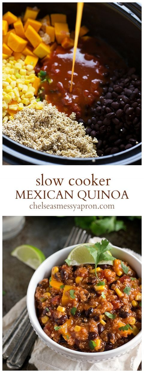 *TRIED new staple! Made with corn bread! * {Slow Cooker} Mexican Quinoa | Chelsea's Messy Apron