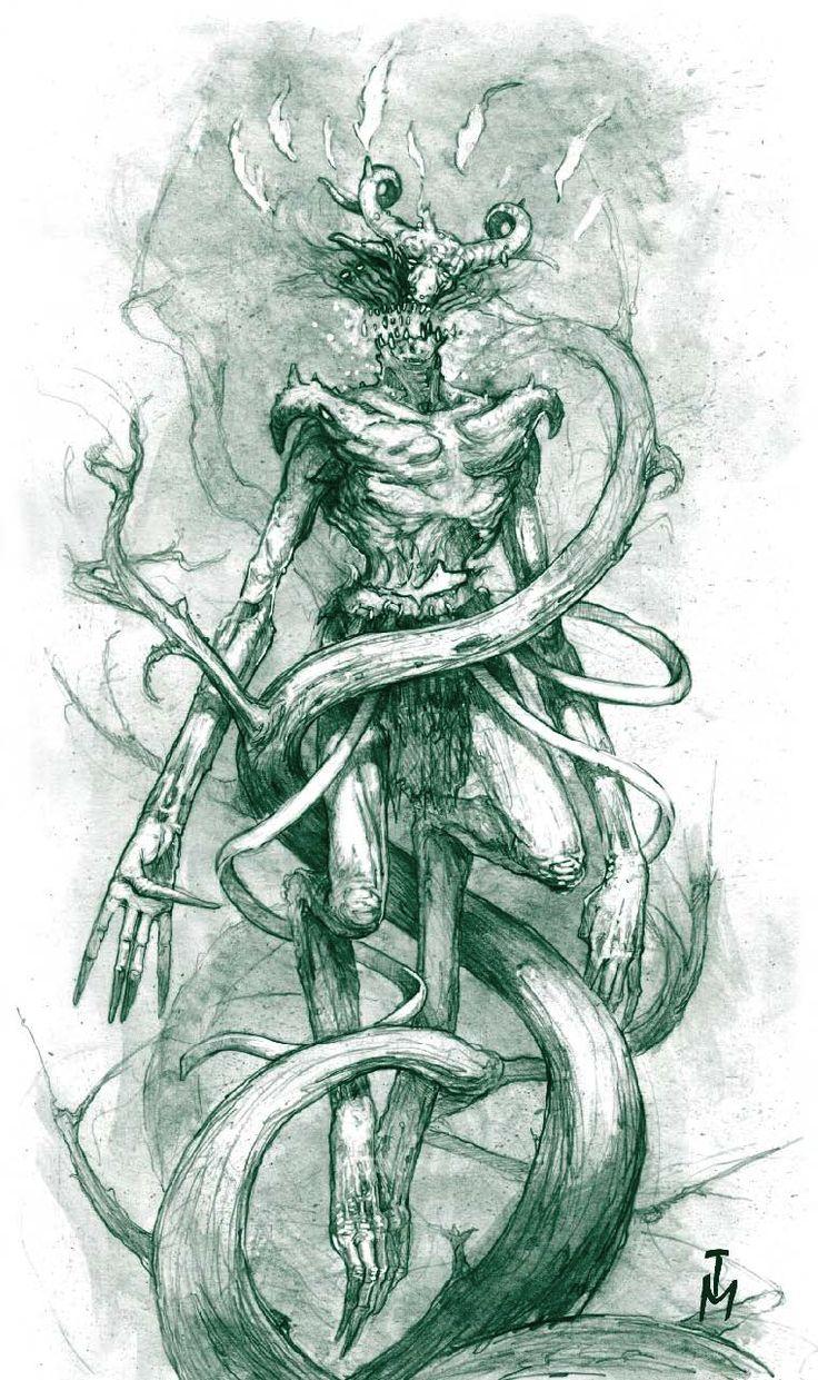 闇釜 投稿画像 tumblr 白い狼, クトゥルフ, クールなアート, Larp, 闇