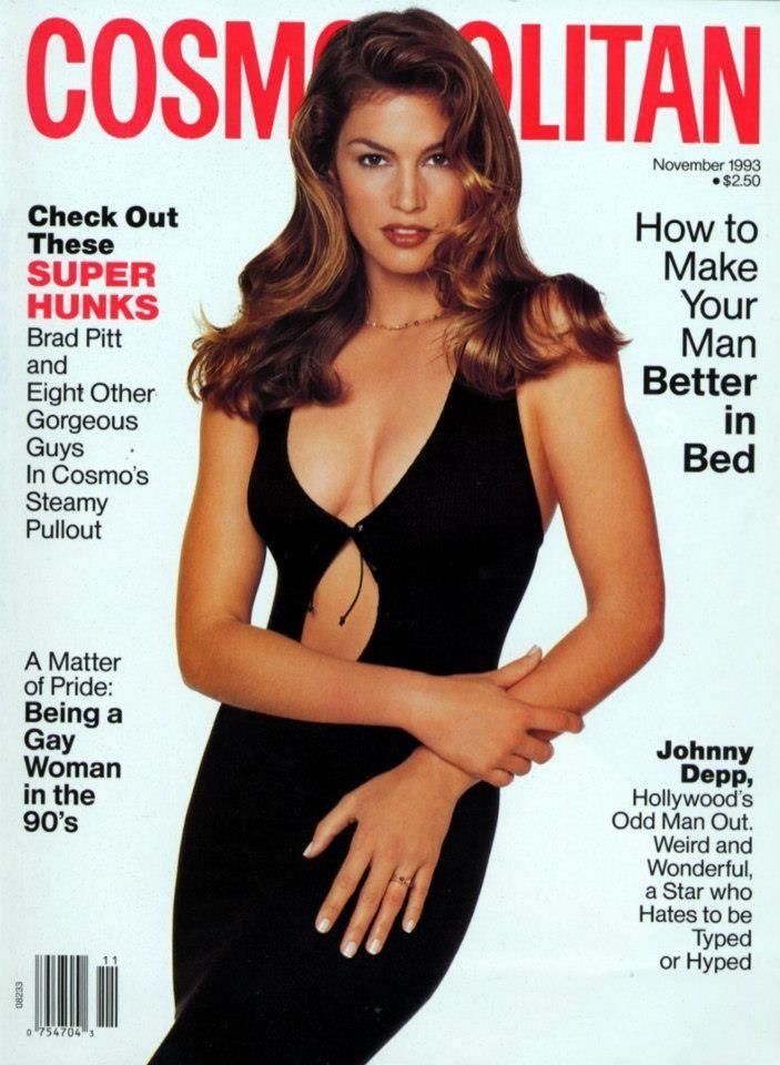 Cindy Crawford Cosmopolitan United States November 1993 Cindy Crawford Cosmo Girl 1990s Supermodels