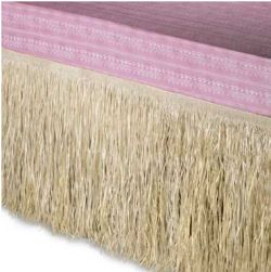 Tropical Hawaiian beach theme hula style raffia bedskirt for a girl