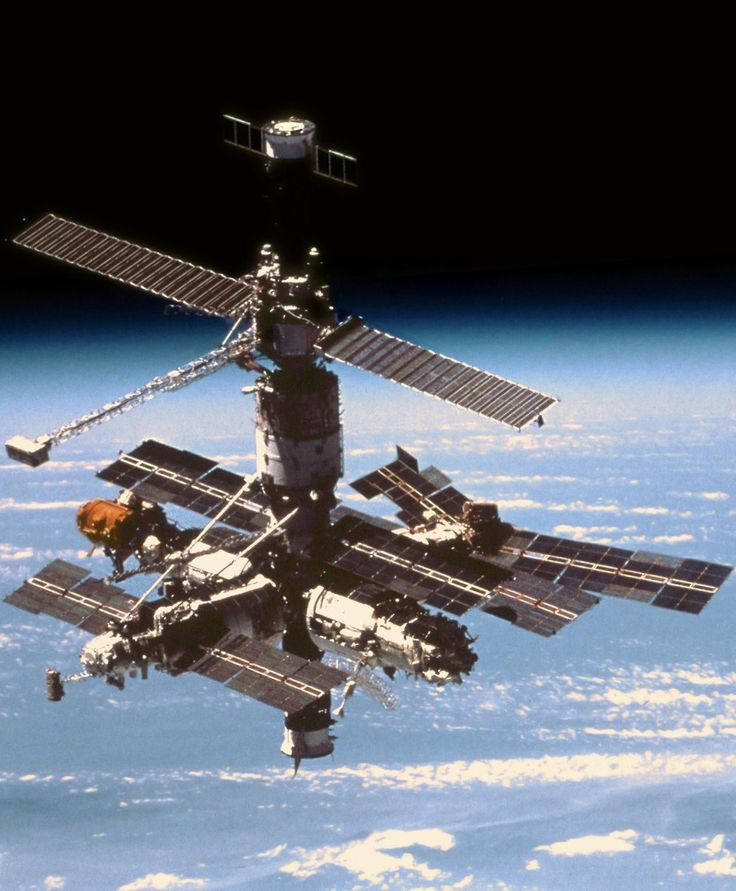 """Mir"", the Russian space station, is in orbit. 19 September 1996. #space #Russian #cosmonaut"