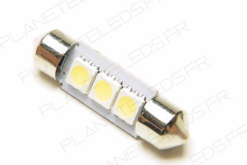 Ampoule Navette C5W 3 Leds SMD5050 36 mm FIRST (en vente par deux): Cette ampoule led 1er prix remplacera simplement votre ampoule…