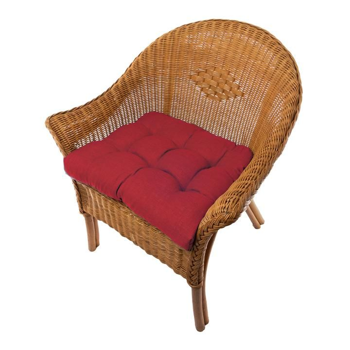 Rave Red Indoor Outdoor Dining Chair Pads Patio Chair Cushions