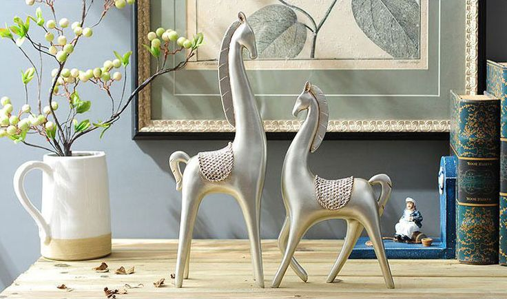 Creative Lovely Pair of Polyresin Horse Statue Wealth Lucky Figurine Home Decor Gift Feng Shui, View Home Decor Gift Feng Shui, ANLUNOB Product Details from Wuhan Anlunob Home Decor Co., Ltd. on Alibaba.com