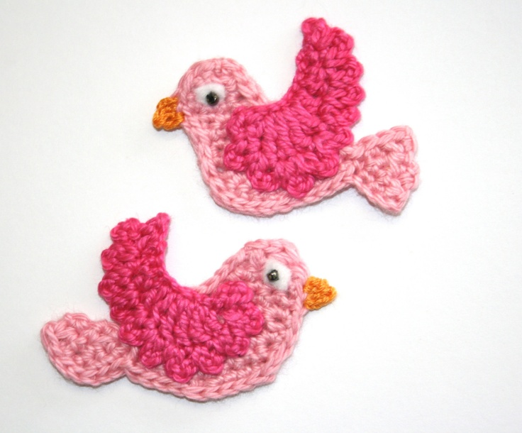 Picture of Etsy Crochet Bird Appliques