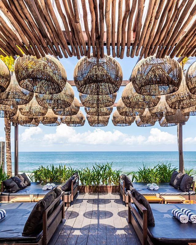 It has become clear that Bali has the most beautiful interiors when it comes to Beach Clubs. They are all so different but all so beautiful! This one is has received a huge transformation from its humble beginnings. THE LAWN Beach Lounge Canggu  decor by @instanoelline shot by Bali Interiors – www.bali-interiors.com/ #InteriorDesign #HomeDecor #DreamSpaces