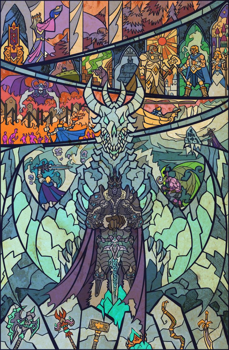 Stained Glass Window Style Fantasy Illustrations by Jian Guo | Who Designed It?