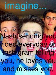 I am going to start making imagines about Nash and other viners
