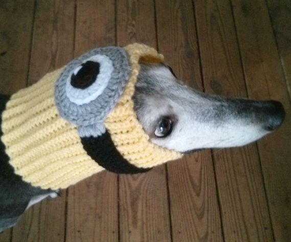 Minion Snood for Greyhounds Crochet Pattern por TheGallantGreyhound