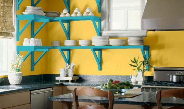 1000 ideas about yellow kitchen paint on pinterest for Caribbean kitchen design ideas