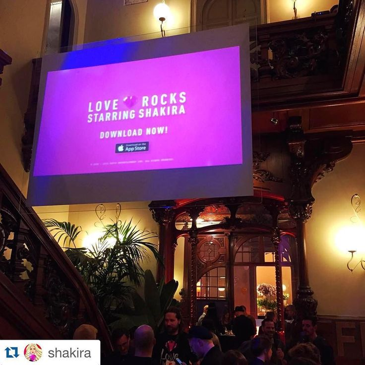 Repost from @shakira no less! From last nights launch of Love Rocks at El Palauet Living Barcelona! #loverocks #elpalauetlivingbarcelona #shakira